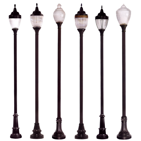 Decorative Light Poles : Decorative street and courtyard lighting the streetscape