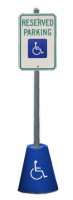 Moveable Concrete ADA Sign Base from Traffic Sign, Inc.